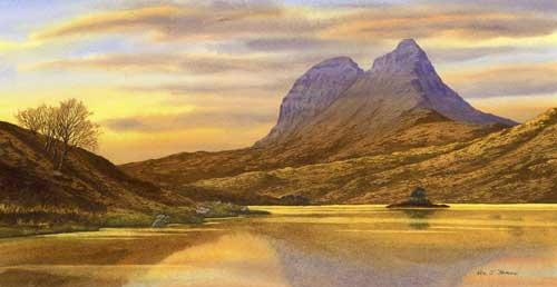 Evening, Suilven from the Cam Loch