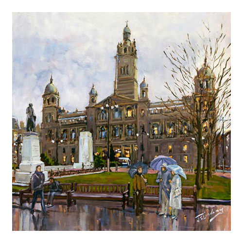 Rainy Day, George Square