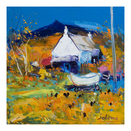Croft, Boat and Hens, Ballygowan, Isle of Mull