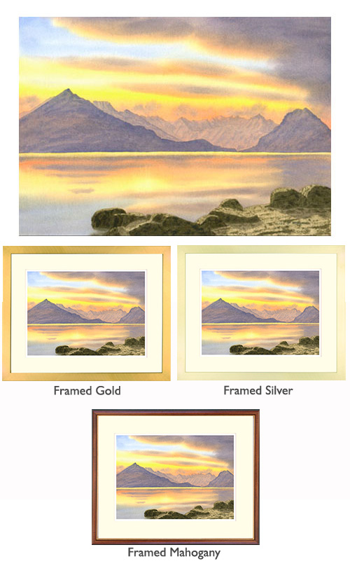 Sunset, The Cuillin from Elgol